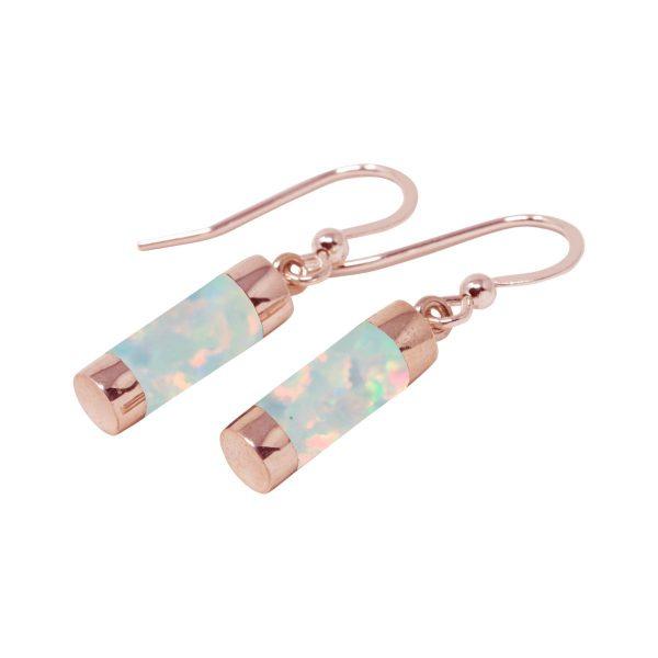 Rose Gold Opalite Sun Ice Drop Earrings