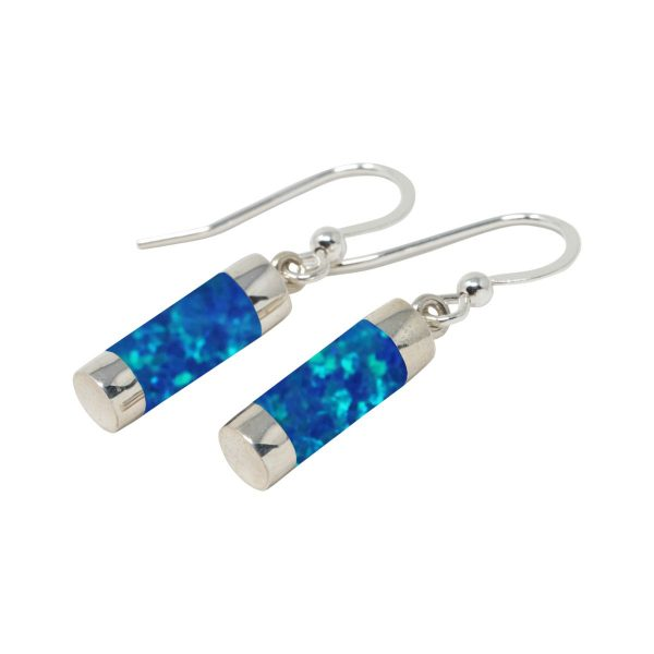 Silver Cobalt Blue Drop Earrings