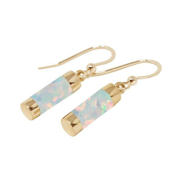 Gold Opalite Sun Ice Drop Earrings