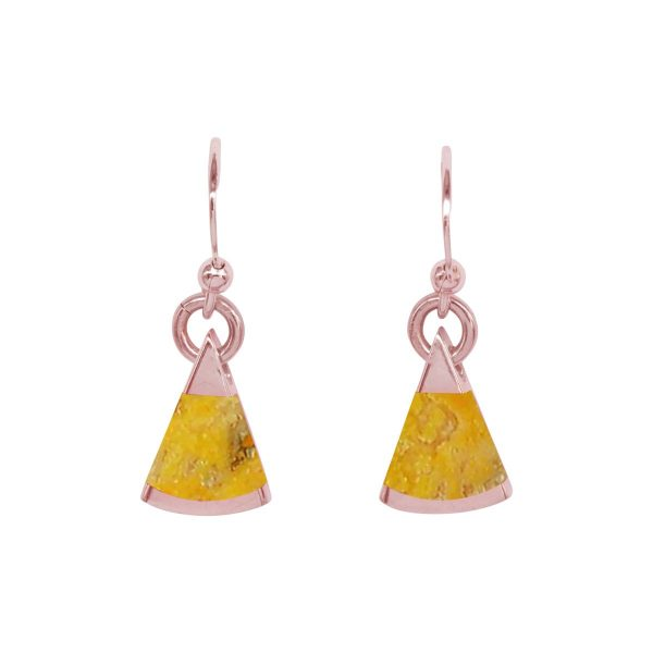 Rose Gold Bumblebee Drop Earrings