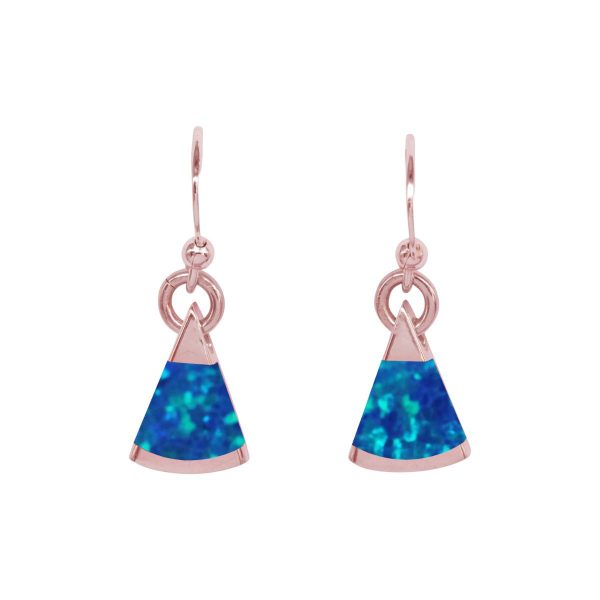 Rose Gold Cobalt Blue Opalite Drop Earrings