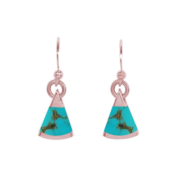Rose Gold Turquoise Drop Earrings