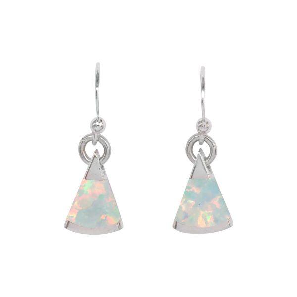 Silver Opalite Sun Ice Drop Earrings