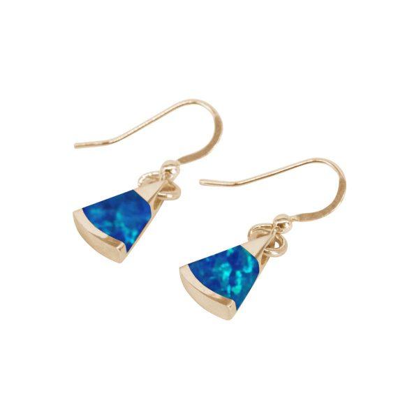 Gold Cobalt Blue Drop Earrings