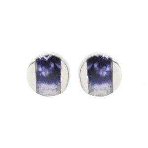 Silver Blue John Stud Earrings