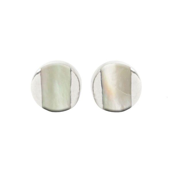 Silver Mother of Pearl Stud Earrings