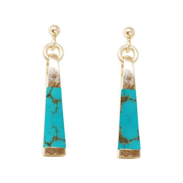 Yellow Turquoise Drop Earrings