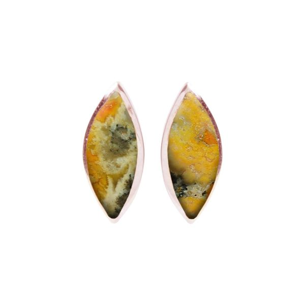 Rose Gold Bumblebee Jasper Stud Earrings