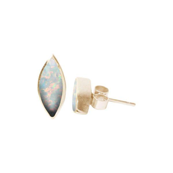 Gold Opalite Sun Ice Stud Earrings
