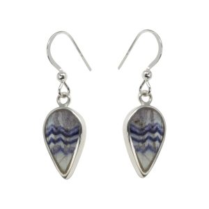 Silver Blue John Drop Earrings