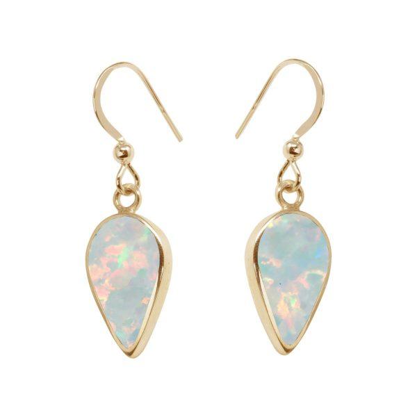 Yellow Gold Opalite Sun Ice Drop Earrings