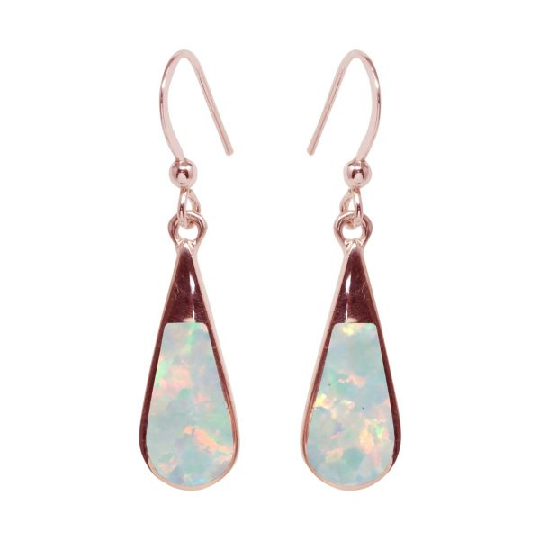 Rose Gold Opalite Sun Ice Drop Earrings