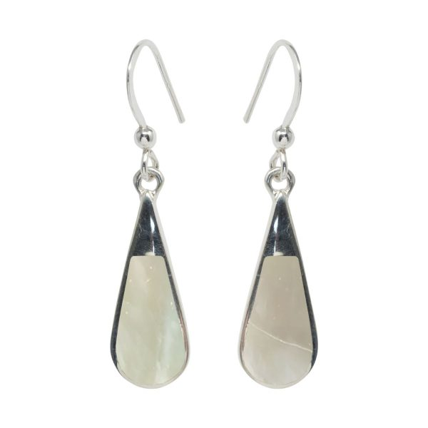 Silver Mother of Pearl Drop Earrings