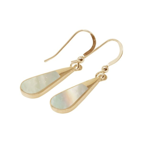 Yellow Mother of Pearl Drop Earrings