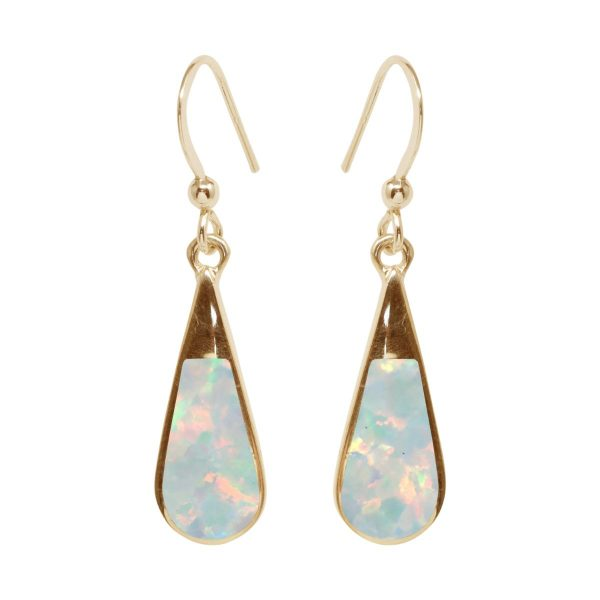 Gold Opalite Sun Ice Drop Earrings