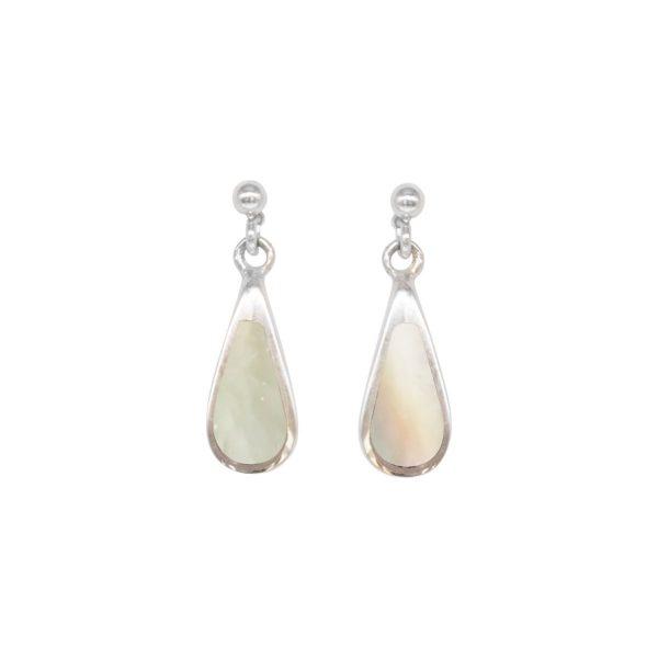 Silver Mother of Pearl Drop Earrings