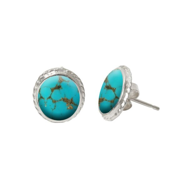 Silver Turquoise Stud Earrings