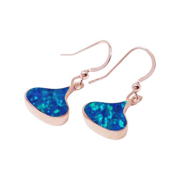 Rose Gold Opalite Drop Earrings