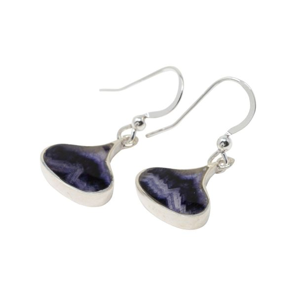 Silver Blue John Drop Earrings