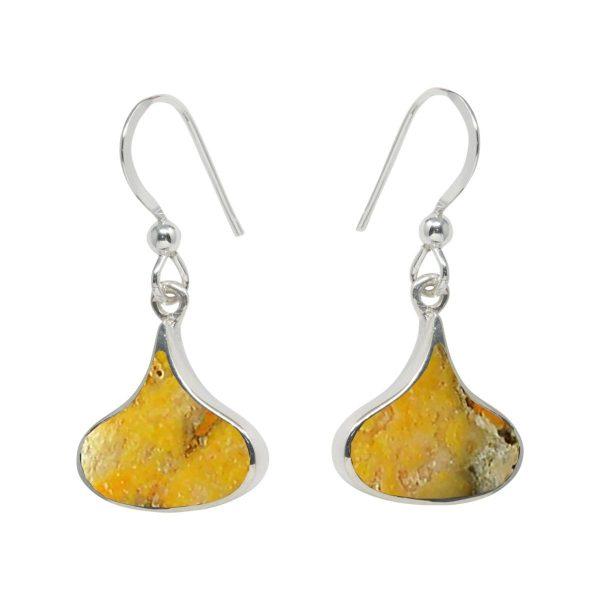 Silver Bumblebee Drop Earrings