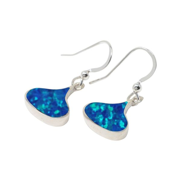 Silver Opalite Cobalt Blue Drop Earrings