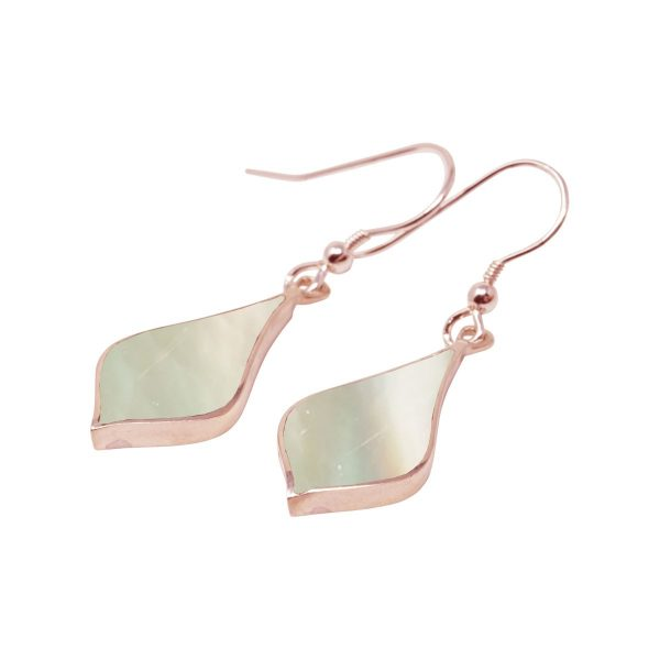 Rose Gold Mother of Pearl Drop Earrings