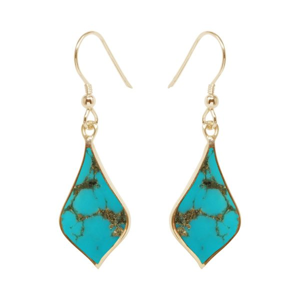 Gold Turquoise Drop Earrings
