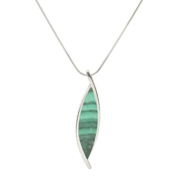 Silver Malachite Pendant
