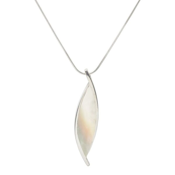 White Gold Mother of Pearl Pendant