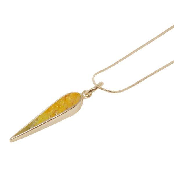 Yellow Gold Bumblebee Jasper Pendant
