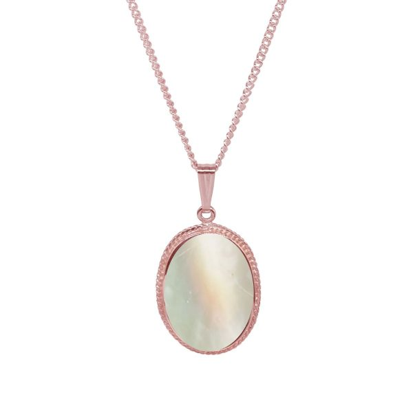 Rose Gold Mother of Pearl Oval Pendant