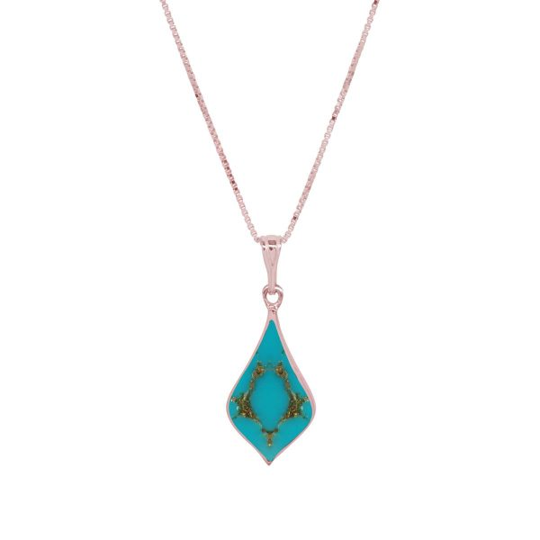 Rose Gold Turquoise Pendant
