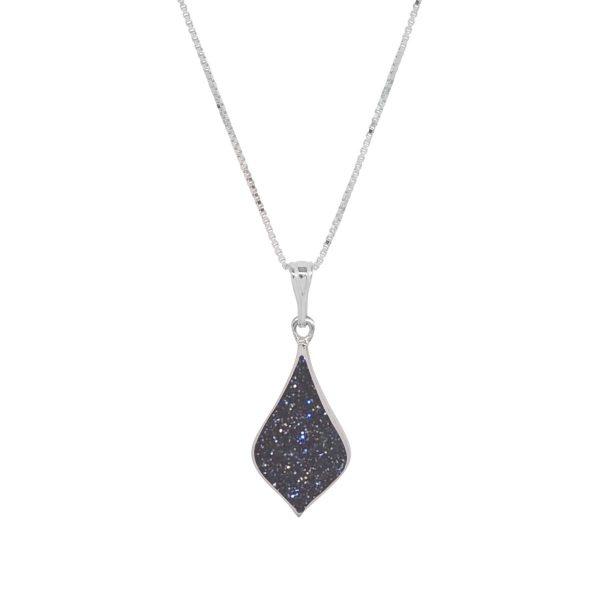 Silver Blue Goldstone Pendant