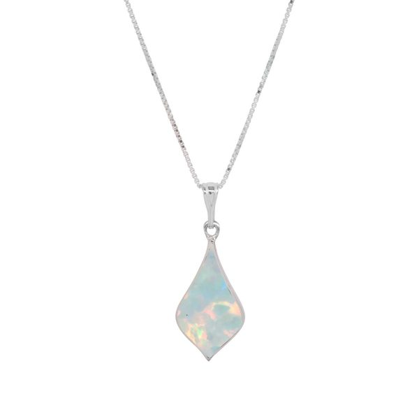 Silver Opalite Sun Ice Pendant