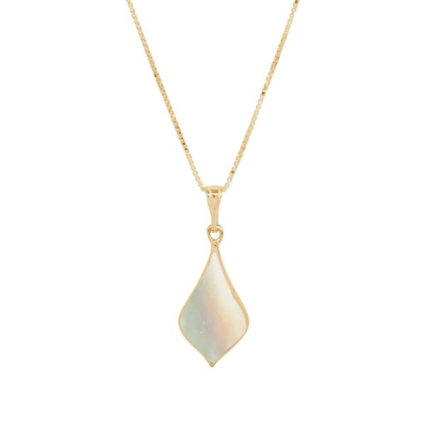 Yellow Gold Mother of Pearl Pendant