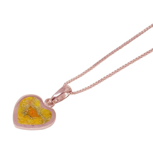 Rose Gold Bumblebee Jasper Heart Shaped Pendant