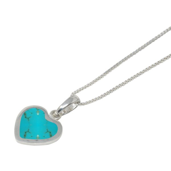 Silver Turquoise Heart Shaped Pendant