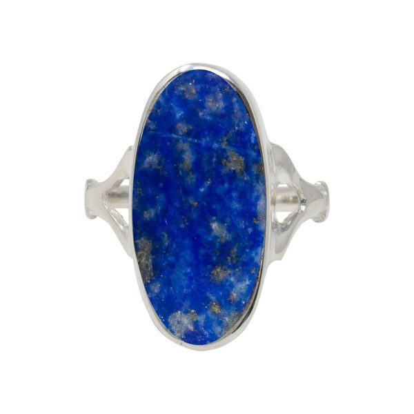 Silver Lapis Oval Ring