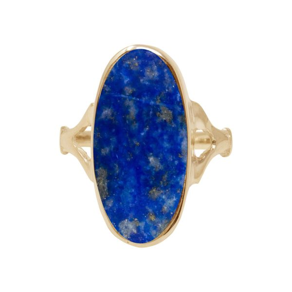 Yellow Gold Lapis Oval Ring