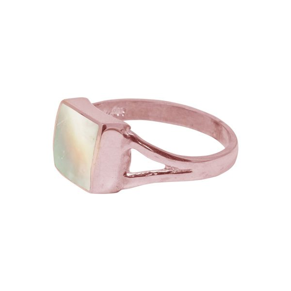 Rose Gold Mother of Pearl Square Ring
