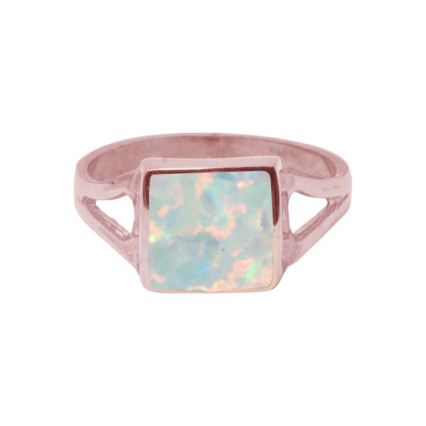 Rose Gold Opalite Square Ring