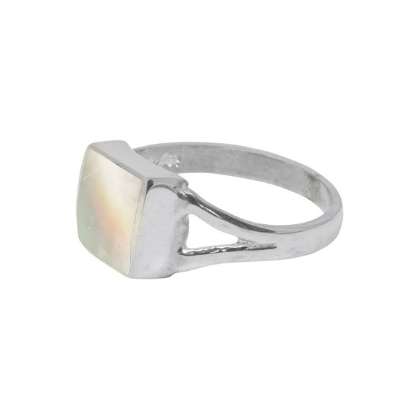 Silver Mother of Pearl Square Ring