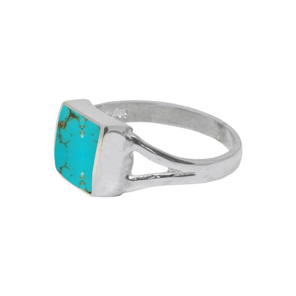 Silver Turquoise Square Ring