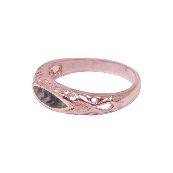Rose Gold Blue John Ring