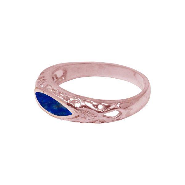 Rose Gold Lapis Ring