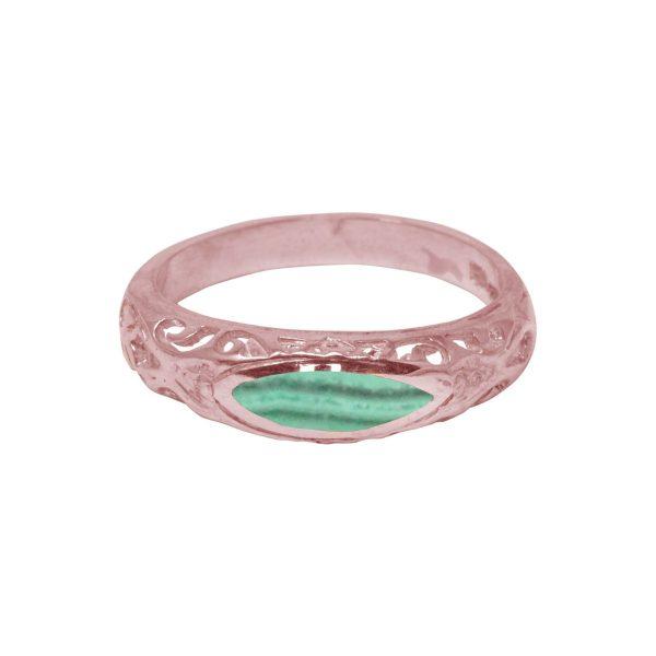 Rose Gold Malachite Ring