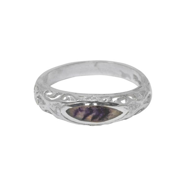 Silver Blue John Ring