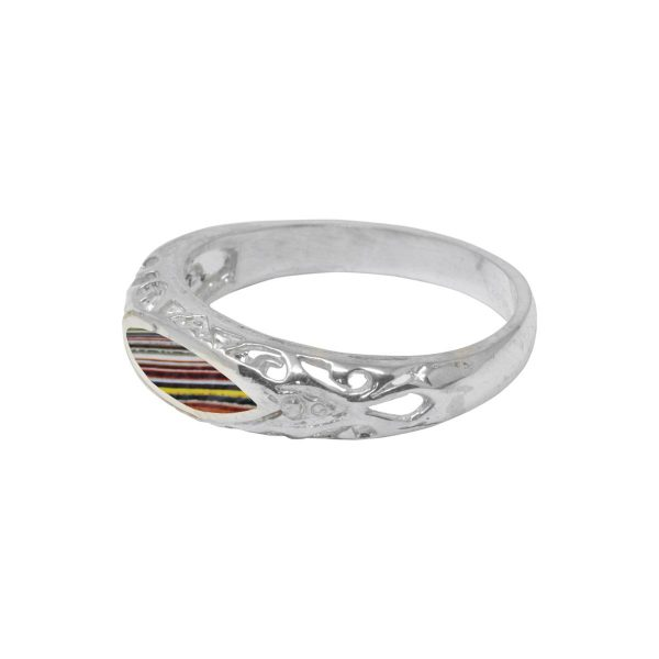 Silver Fordite Ring