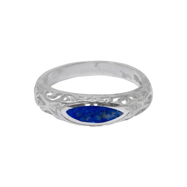 Silver Lapis Ring