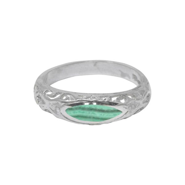 Silver Malachite Ring
